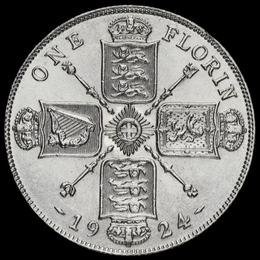 1924 George V Silver Florin Reverse
