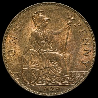 1929 George V Penny Reverse