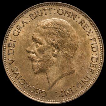 1931 George V Penny Obverse