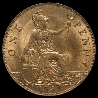 1931 George V Penny Reverse