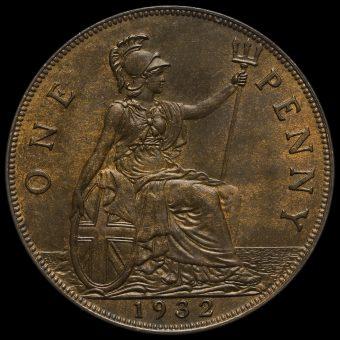 1932 George V Penny Reverse