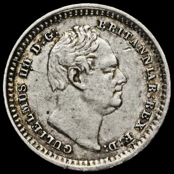 1835 William IV Milled Silver Three-Halfpence Obverse
