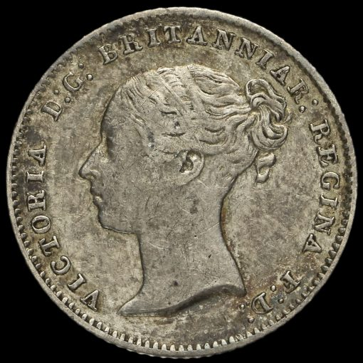 1846 Queen Victoria Silver Fourpence / Groat Obverse
