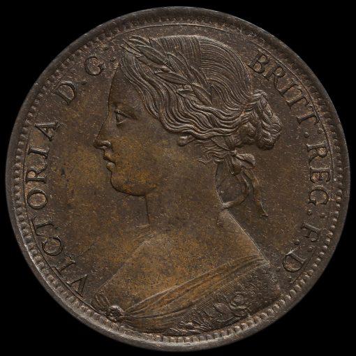 1862 Queen Victoria Bun Head Penny Obverse