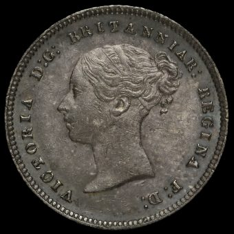 1864 Queen Victoria Young Head Silver Maundy Fourpence Obverse