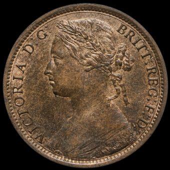 1874 Queen Victoria Bun Head Penny Obverse