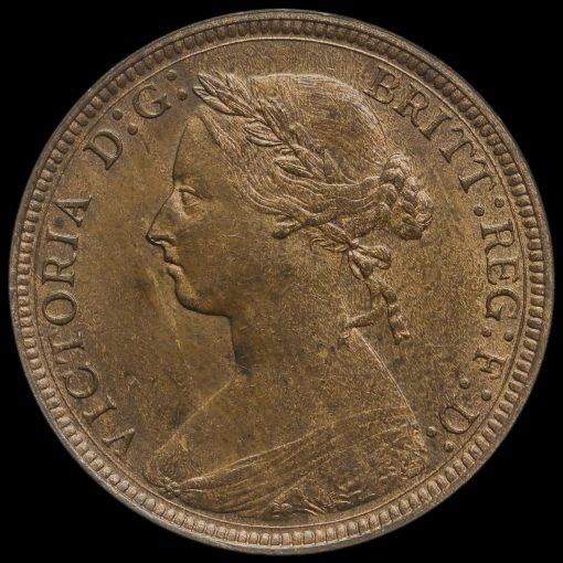1886 Queen Victoria Bun Head Halfpenny Obverse