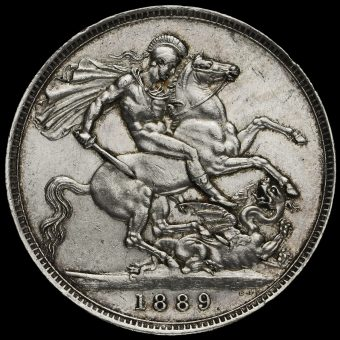 1889 Queen Victoria Jubilee Head Silver Crown Reverse