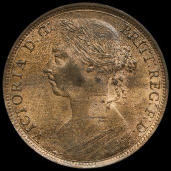 1889 Queen Victoria Bun Head Penny Obverse