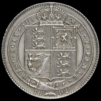 1892 Queen Victoria Jubilee Head Silver Shilling Reverse