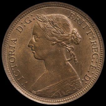 1893 Queen Victoria Bun Head Halfpenny Obverse