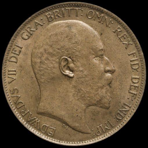 1902 Edward VII Low Tide Penny Obverse