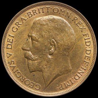 1912 H George V Penny Obverse