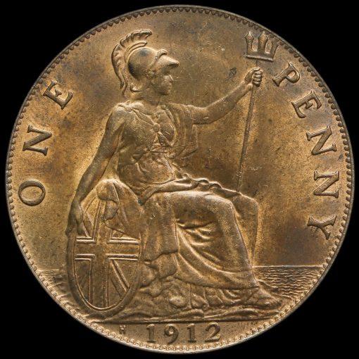 1912 H George V Penny Reverse