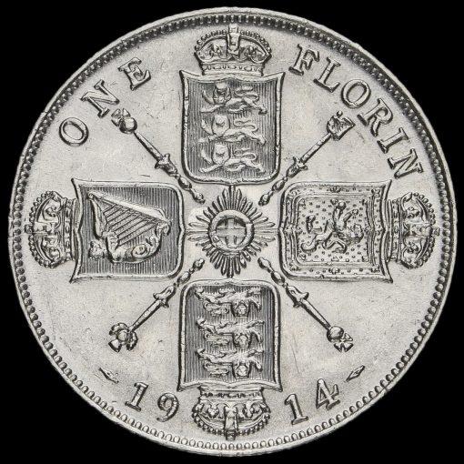 1914 George V Silver Florin Reverse