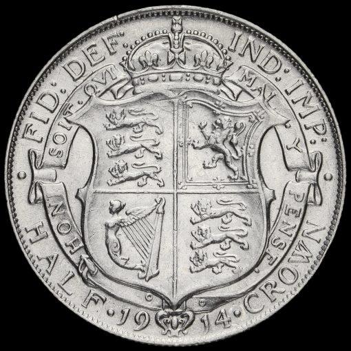 1914 George V Silver Half Crown Reverse