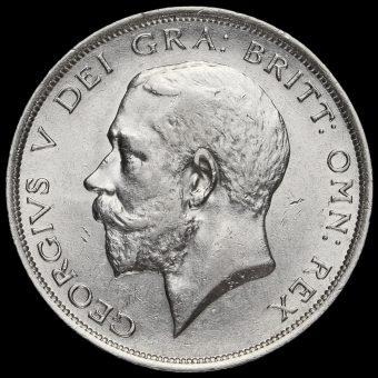 1916 George V Silver Half Crown Obverse