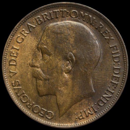 1918 H George V Penny Obverse