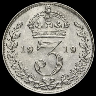 1919 George V Silver Threepence Reverse