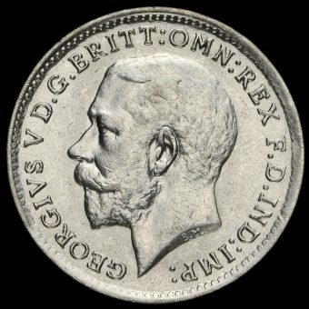 1920 George V Silver Threepence Obverse