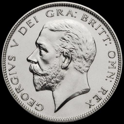 1927 George V Silver Proof Half Crown Obverse