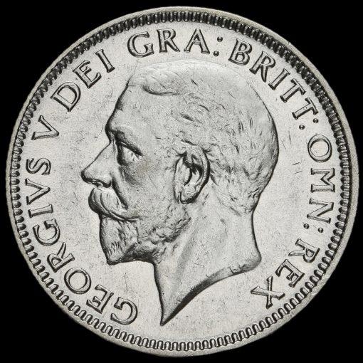 1929 George V Silver Shilling Obverse
