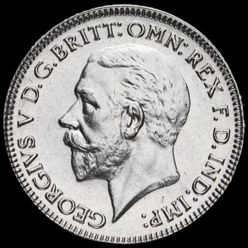 1930 George V Silver Sixpence Obverse