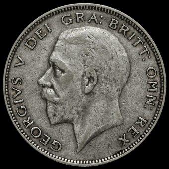 1930 George V Silver Half Crown Obverse