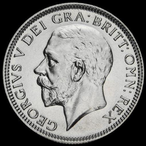 1934 George V Silver Shilling Obverse