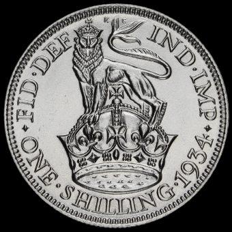 1934 George V Silver Shilling Reverse