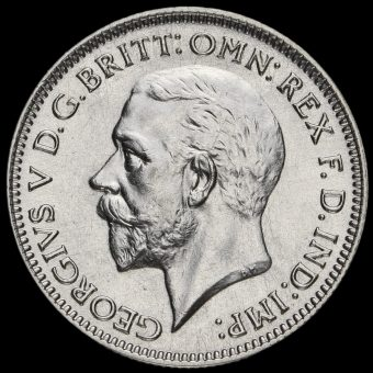 1935 George V Silver Sixpence Obverse