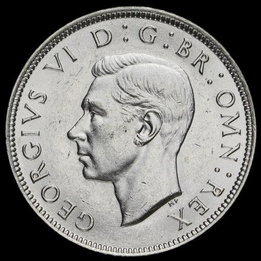 1941 George VI Silver Two Shilling Coin / Florin Obverse