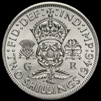 1946 George VI Silver Two Shilling Coin / Florin Reverse