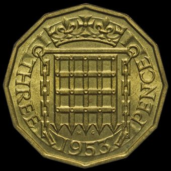 1953 Elizabeth II Threepence Reverse