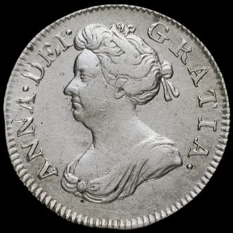 1703 Queen Anne Early Milled Silver Maundy Fourpence Obverse