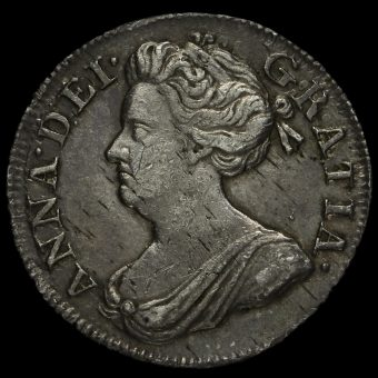1708 Queen Anne Early Milled Silver Maundy Fourpence Obverse