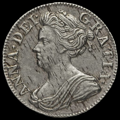 1710 Queen Anne Early Milled Silver Maundy Threepence Obverse