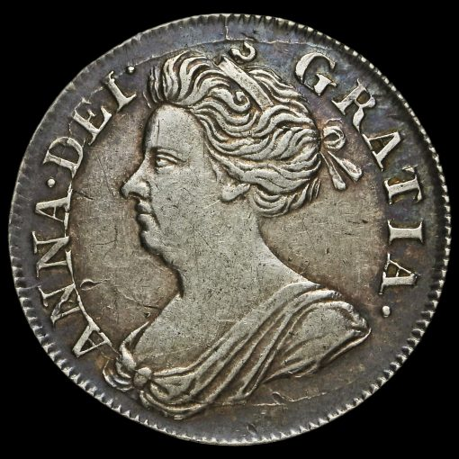 1713 Queen Anne Early Milled Silver Maundy Fourpence Obverse