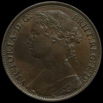 1879 Queen Victoria Bun Head Penny Obverse