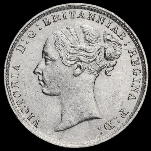 1881 Queen Victoria Young Head Silver Threepence Obverse