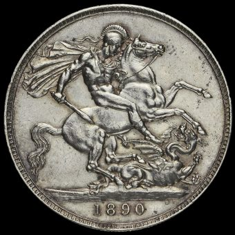 1890 Queen Victoria Jubilee Head Silver Crown Reverse