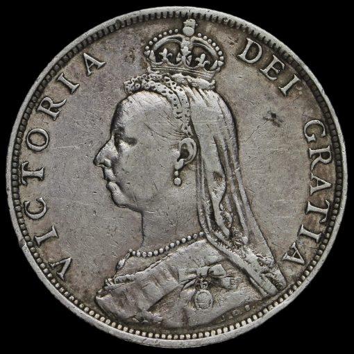 1890 Queen Victoria Jubilee Head Silver Florin Obverse