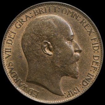 1902 Edward VII High Tide Halfpenny Obverse