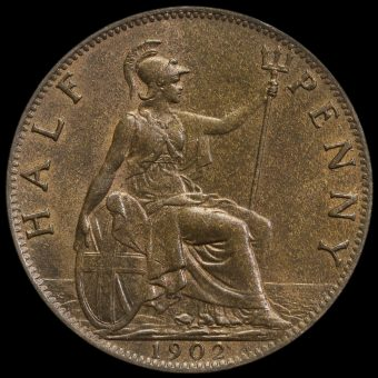 1902 Edward VII High Tide Halfpenny Reverse