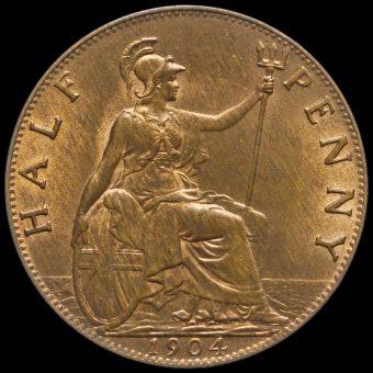 1904 Edward VII Halfpenny Reverse