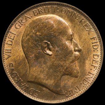 1905 Edward VII Halfpenny Obverse