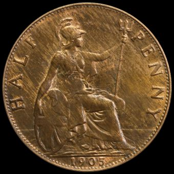 1905 Edward VII Halfpenny Reverse