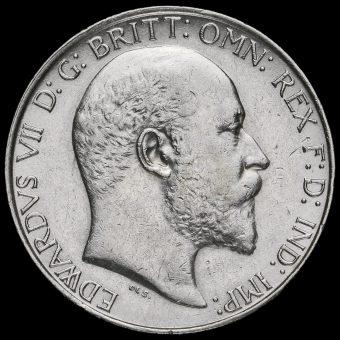 1906 Edward VII Silver Florin Obverse