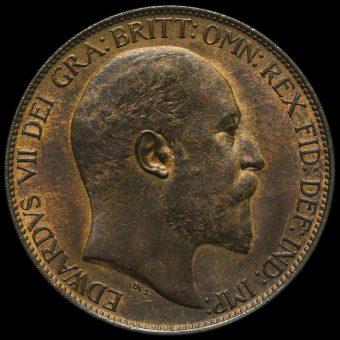 1906 Edward VII Halfpenny Obverse