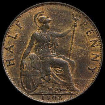 1906 Edward VII Halfpenny Reverse